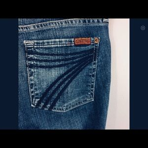 7 For All Mankind - Dojo Bootcut Jeans - size 28